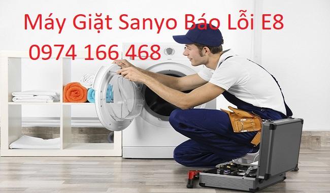 Lỗi E8 máy giặt Sanyo
